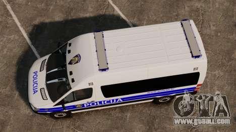 Mercedes-Benz Sprinter Croatian Police [ELS] for GTA 4 right view