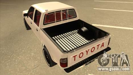 Toyota Hilux 2004 for GTA San Andreas back view