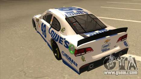 Chevrolet SS NASCAR No. 48 Lowes white for GTA San Andreas back view