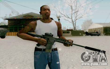 The M4a1 for GTA San Andreas second screenshot