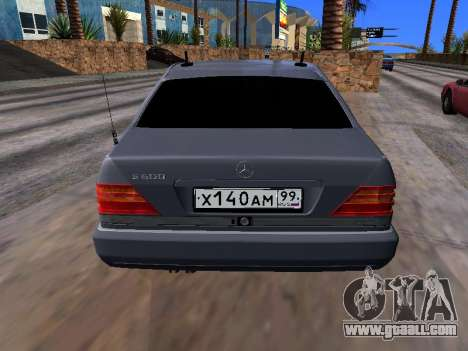 Mercedes-Benz S600 W140 for GTA San Andreas back view