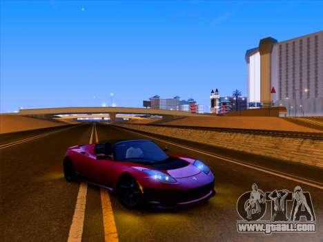 Tesla Roadster Sport 2011 for GTA San Andreas interior