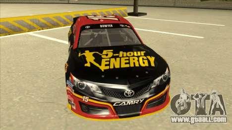 Toyota Camry NASCAR No. 15 5-hour Energy for GTA San Andreas left view