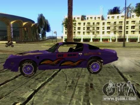 Pontiac Firebird Overhaulin for GTA San Andreas back view