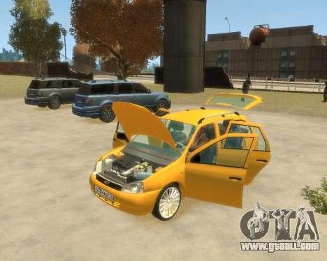 Lada Kalina Hatchback for GTA 4 back left view