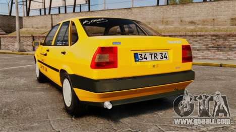 Fiat Tempra SX.A Turkish Taxi for GTA 4 back left view