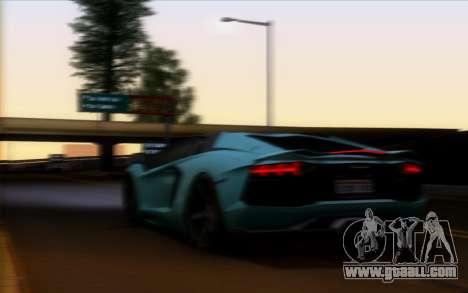 Lamborghini Aventador Vossen V2.0 Final for GTA San Andreas inner view