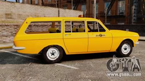 Gaz-24-02 Volga Taxi for GTA 4 left view