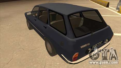 Renault 12 Break for GTA San Andreas back view