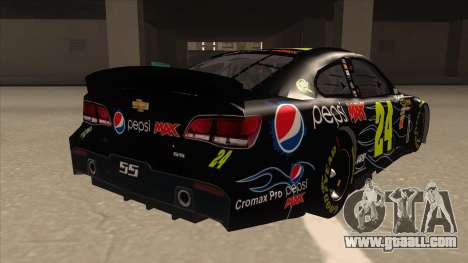 Chevrolet SS NASCAR No. 24 Pepsi Max AARP for GTA San Andreas right view