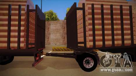 Semi-trailer timber truck for MB 2644 trem frent for GTA San Andreas left view