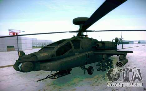 AH-64 Apache for GTA San Andreas