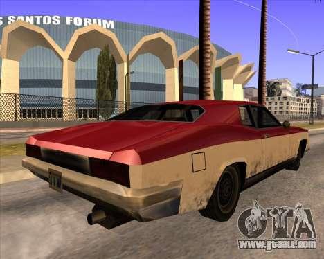 Buccaneer for GTA San Andreas left view