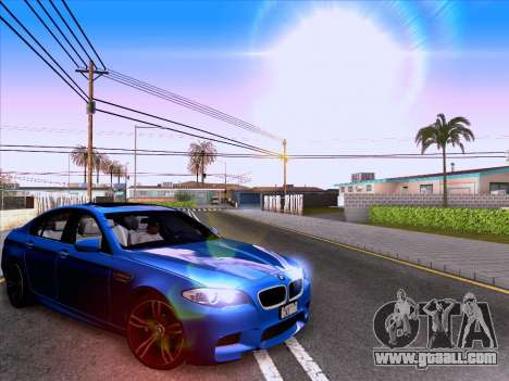 BMW M5 F10 2012 Autovista for GTA San Andreas back left view