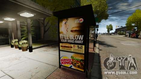 New advertising at bus stops for GTA 4 second screenshot