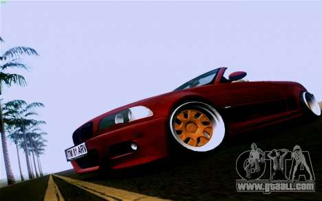 BMW M3 Cabrio for GTA San Andreas back left view