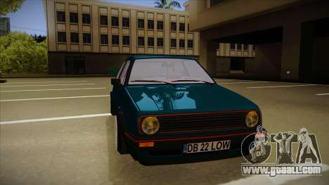 Volkswagen Golf MK2 Stance Nation by Razvan11 for GTA San Andreas left view