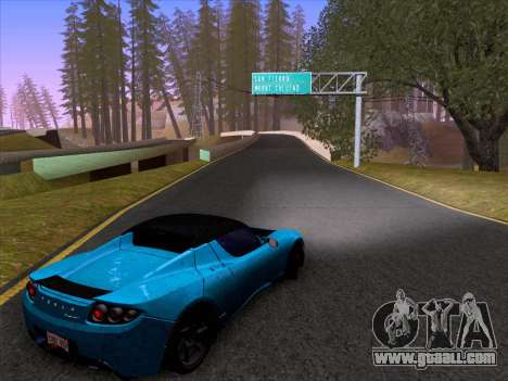 Tesla Roadster Sport 2011 for GTA San Andreas inner view