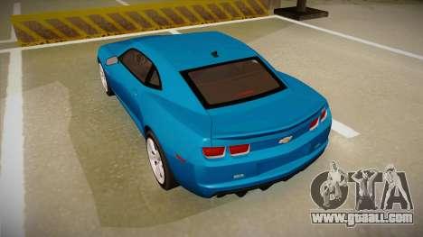 Chevrolet Camaro for GTA San Andreas right view