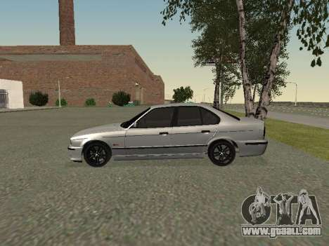 BMW 525I for GTA San Andreas back left view