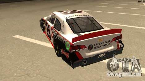 Chevrolet SS NASCAR No. 29 Jimmy Johns for GTA San Andreas back view