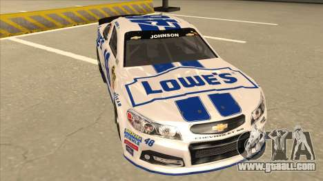 Chevrolet SS NASCAR No. 48 Lowes white for GTA San Andreas left view