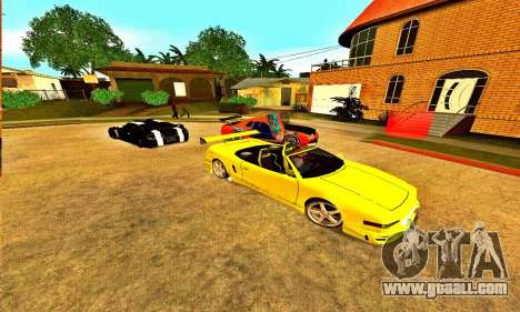 Infernus Cabrio Edition for GTA San Andreas back left view