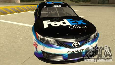 Toyota Camry NASCAR No. 11 FedEx Office for GTA San Andreas left view