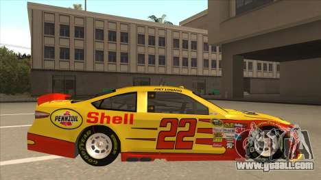 Ford Fusion NASCAR No. 22 Shell Pennzoil for GTA San Andreas back left view