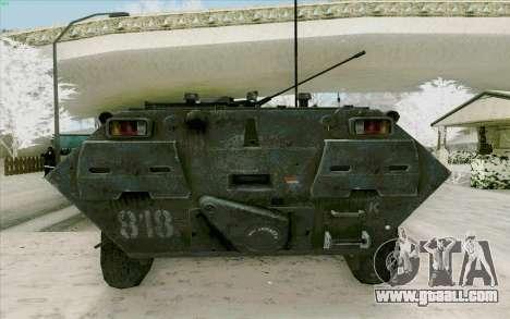 BTR-80 for GTA San Andreas inner view