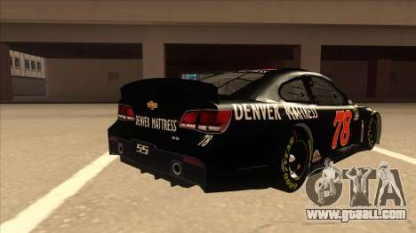 Chevrolet SS NASCAR No. 78 Furniture Row for GTA San Andreas right view
