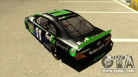 Toyota Camry NASCAR No. 11 FedEx Ground for GTA San Andreas back view