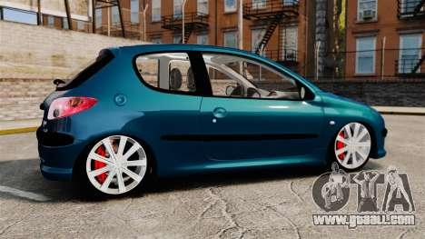 Peugeot 206 for GTA 4 left view