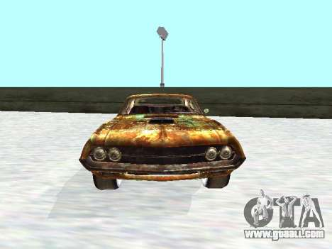 Ford Torino Rusty for GTA San Andreas back view