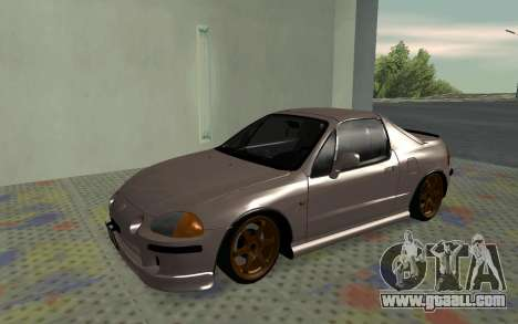 Honda CRX DelSol TMC for GTA San Andreas