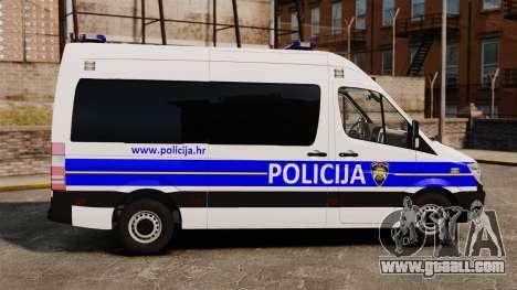 Mercedes-Benz Sprinter Croatian Police [ELS] for GTA 4 left view