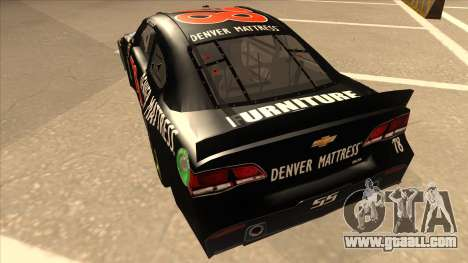 Chevrolet SS NASCAR No. 78 Furniture Row for GTA San Andreas back view