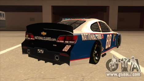 Chevrolet SS NASCAR No. 88 National Guard for GTA San Andreas right view