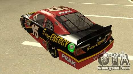 Toyota Camry NASCAR No. 15 5-hour Energy for GTA San Andreas back view