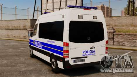Mercedes-Benz Sprinter Croatian Police [ELS] for GTA 4 back left view