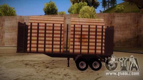 Semi-trailer timber truck for MB 2644 trem frent for GTA San Andreas