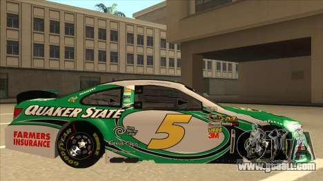 Chevrolet SS NASCAR No. 5 Quaker State for GTA San Andreas back left view