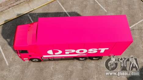 Scania R580 Tandem Australia Post for GTA 4 right view