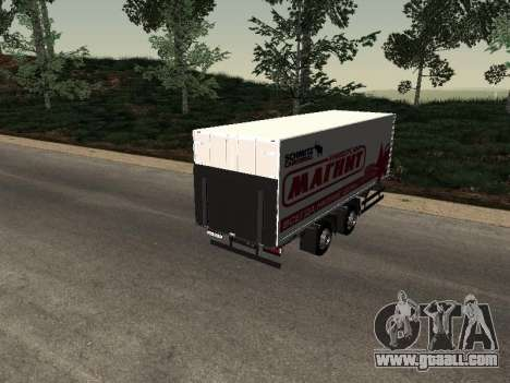 Trailer MAN Magnet for GTA San Andreas left view