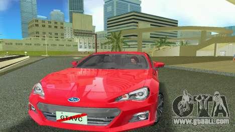 Subaru BRZ Type 1 for GTA Vice City left view