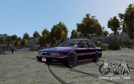 Mitsubishi Galant V2 for GTA 4 back left view