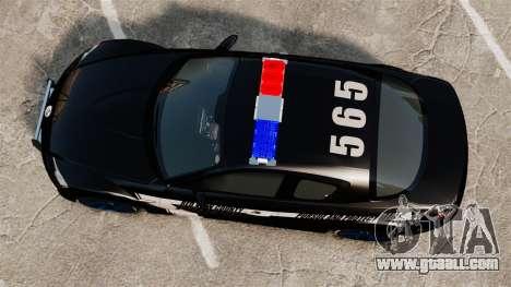 Mazda RX-8 R3 2011 Police for GTA 4 right view