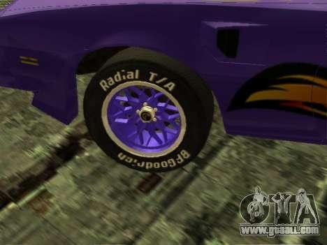Pontiac Firebird Overhaulin for GTA San Andreas right view
