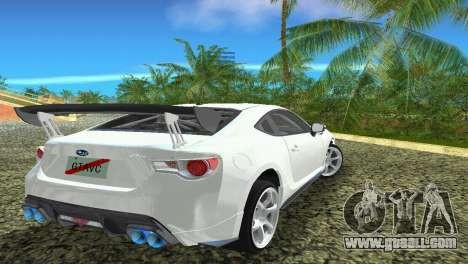 Subaru BRZ Type 4 for GTA Vice City inner view