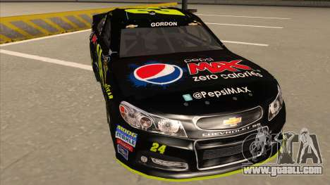 Chevrolet SS NASCAR No. 24 Pepsi Max AARP for GTA San Andreas left view